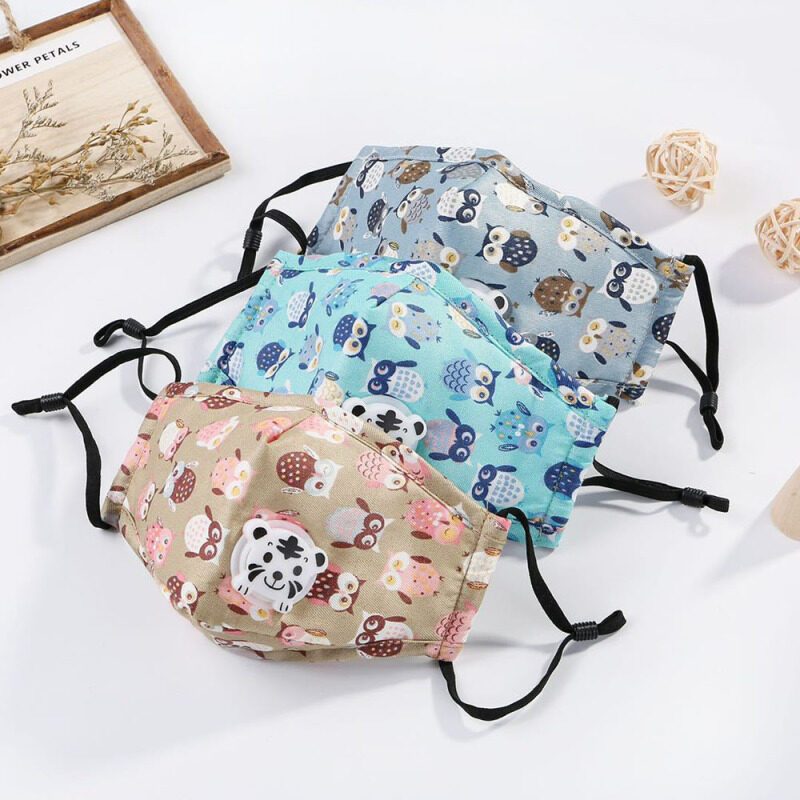 Lovely Cute Washable With Valve Anti Haze Windproof Adjustable Reusable Health Care Face Cover Mouth Mask Dustproof