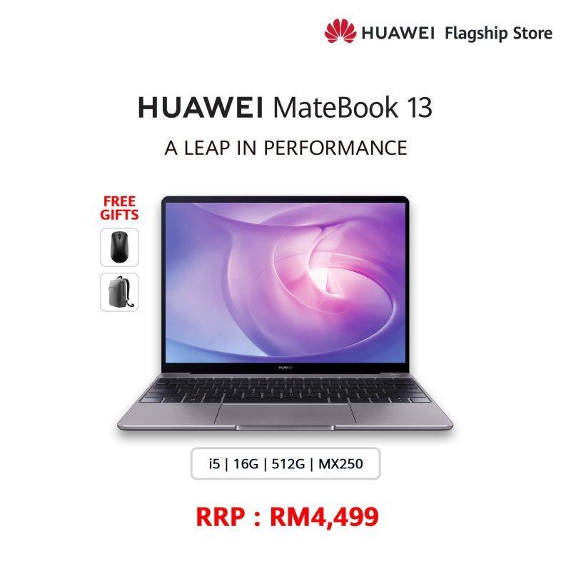 HUAWEI MATEBOOK 13 I5 2020 FREE Band 4 + FREE Mouse + FREE Backpack Malaysia