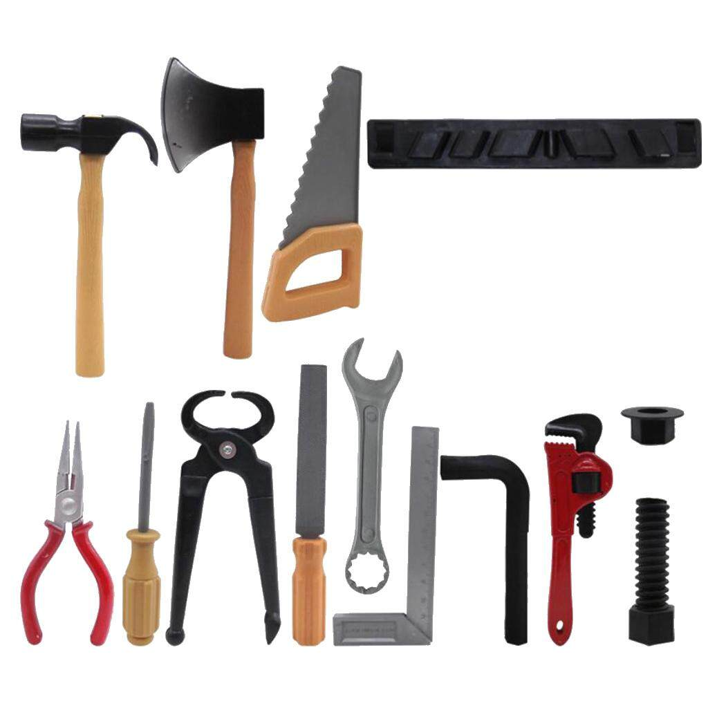 Set Children Kids Toys Building Repair Tool DIY Plastic Hammer Spanner Axe Plier