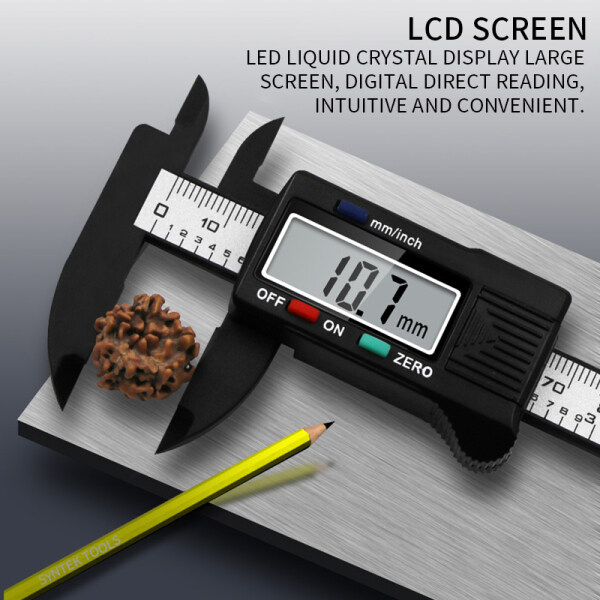 Digital Vernier Caliper Inch and Millimeter Conversion Measuring Tool with LCD Screen