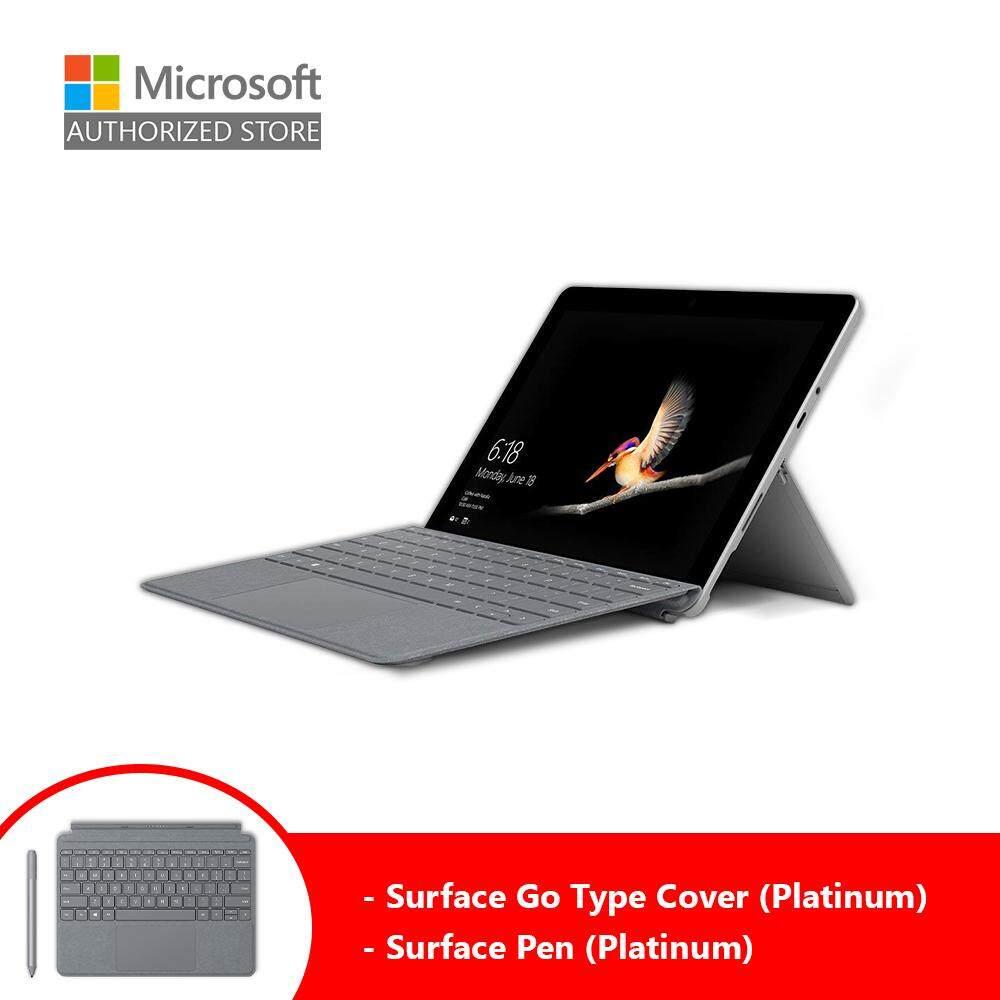 Microsoft Surface Go (Intel 4415Y/8GB/128GB/10 /Windows 10) + Type Cover (Platinum) + Pen (Platinum) Malaysia