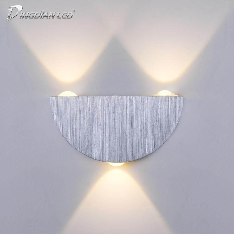 DINGDIAN LED LED Aluminum Wall Light Porch Light Indoor Wall Lamp 3W 110V 220V Warm Light Sconce Balcony Terrace Decoration Lighting Lamp
