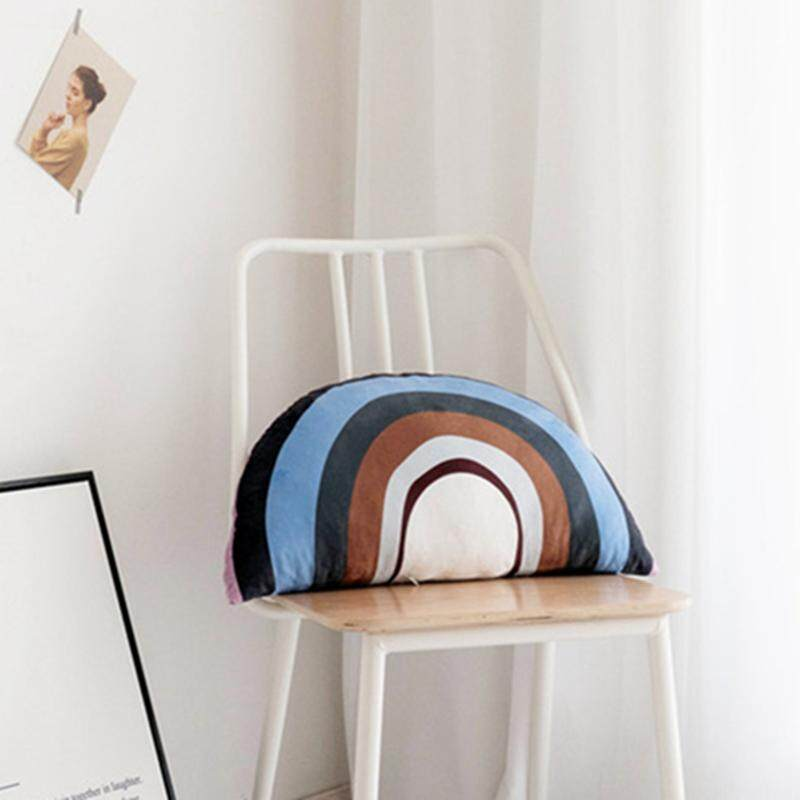 Ins 3D Cartoon House Rainbow Shaped Cushion Soft Plush Pillow Home Sofa Car Seat Bedroom Children Toy Room Decoration