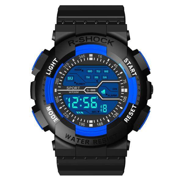 You raise me up Fashion Seven Colors Colorful Luminous Multi Function Sports Waterproof Electronic Watch WKJY88589AVZ For Men Malaysia