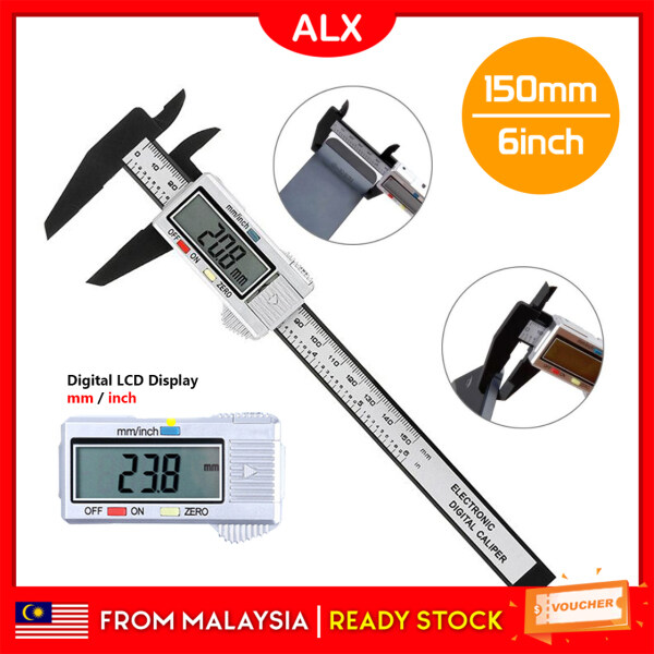 ALX Malaysia Digital LCD Electronic Vernier Caliper Gauge Micrometer Tools 15cm 6inch 001