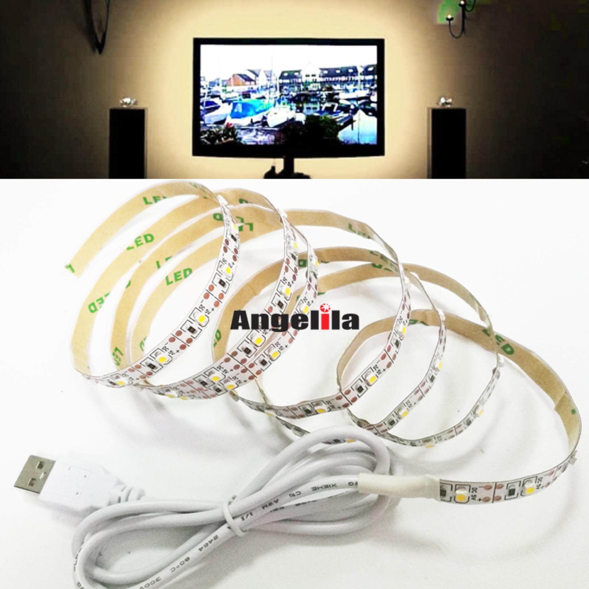 separation shoes 7b460 b98cf Angelila White Color 4 Meters 5V USB Cable LED Strip Lights ...
