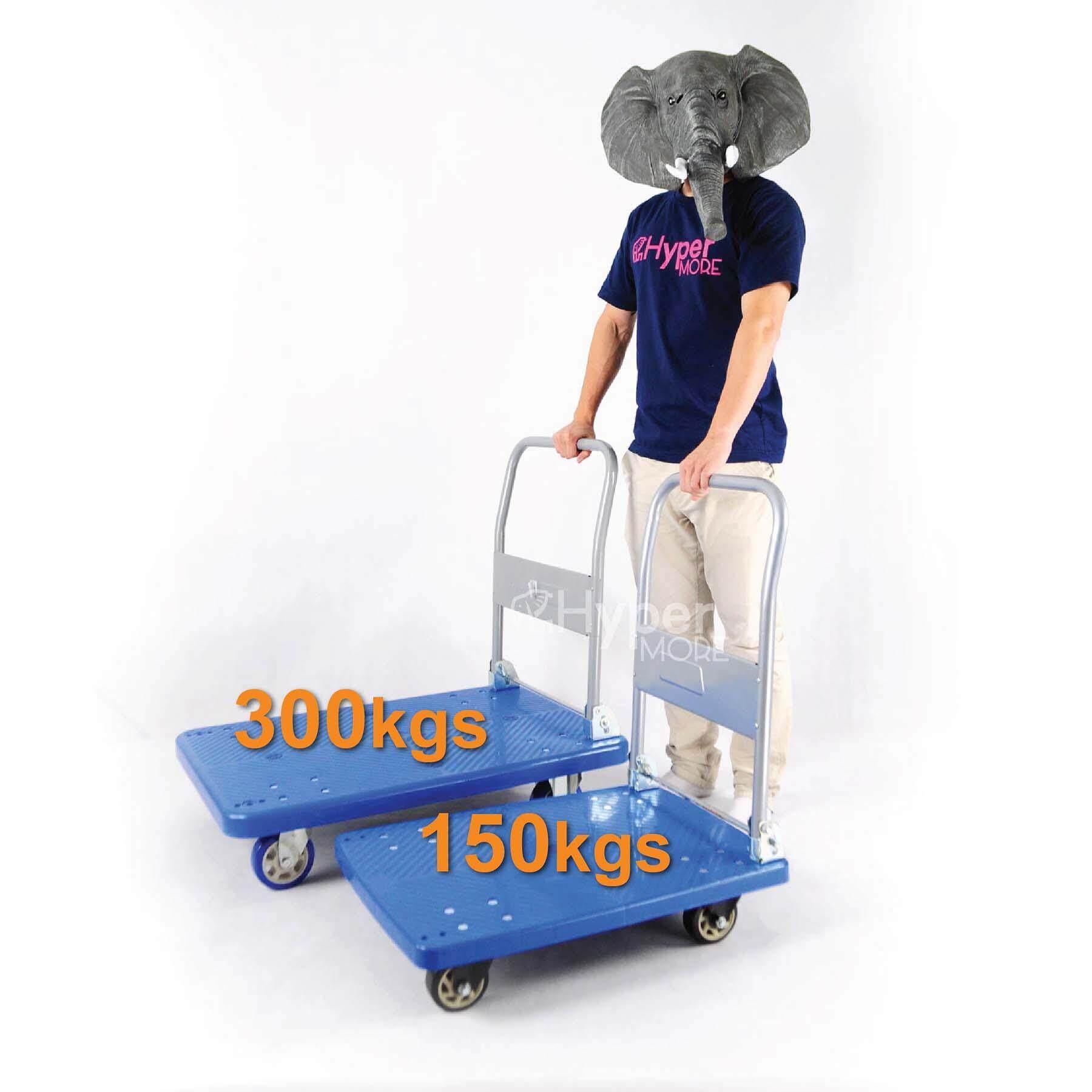 Fordable PVC Plastic Platform Trolley Hand Truck Trolley Heavy Duty 300KG