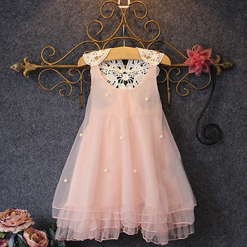 Flower Girls Kids Dresses Tulle Tutu Wedding Bridesmaid Party Pageant Prom Dress