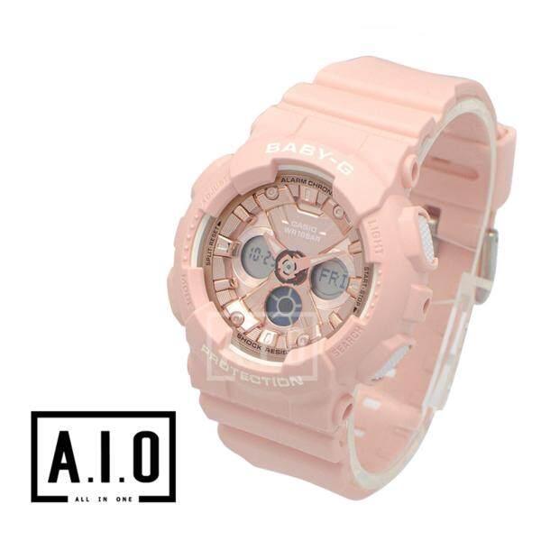 Casio Baby-G Standard Analog-Digital BA-130 Series Pink Resin Band Watch BA130-4A BA-130-4A (jam tangan wanita / casio watch / casio watch women) Malaysia