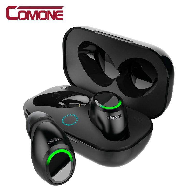 Comone Soaiy Sony Ericsson T1 Kecil Benar Nirkabel Earbud Tws 4.2 Headset Earphone Bluetooth Stereo Bass Suara Sport Earphone For Samsung Iphone