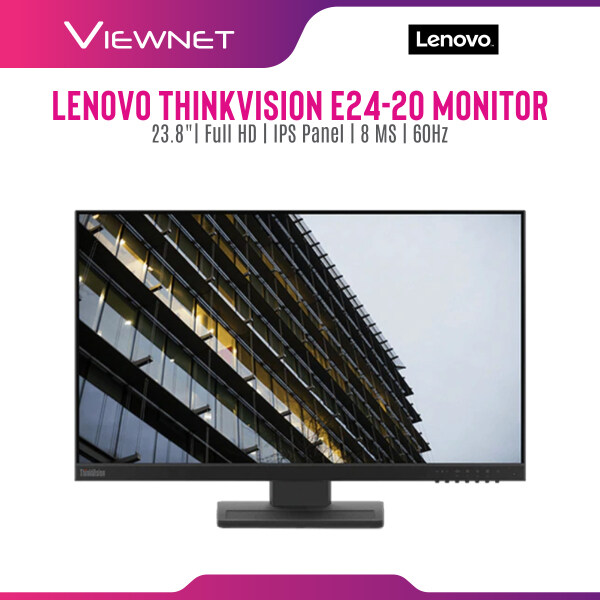 Lenovo ThinkVision E24-20 24 Monitor, IPS Panel, Full HD, 8MS Respond Time, Pivot and with Speaker Malaysia