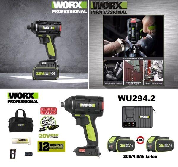 Worx 20V Max Cordless Brushless 1/4 Hex Impact Driver
