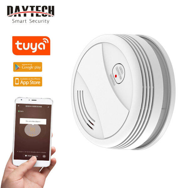DAYTECH Wireless Smoke Detector With APP Control WIFI Fire Alarm Sensor Security System Tuya APP For Android/IOS SM10