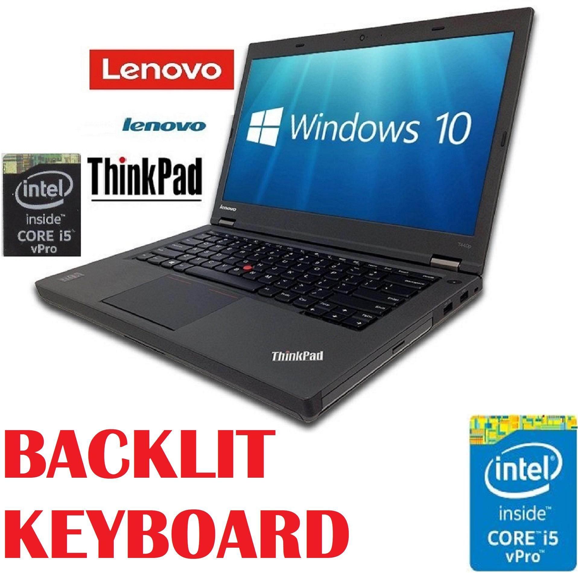 (REFURBISHED)Lenovo ThinkPad T440P Intel core i5 4300M Vpro Processor/4GB  DDR3/500GB HDD/INTEL HD GRAPHIC/14