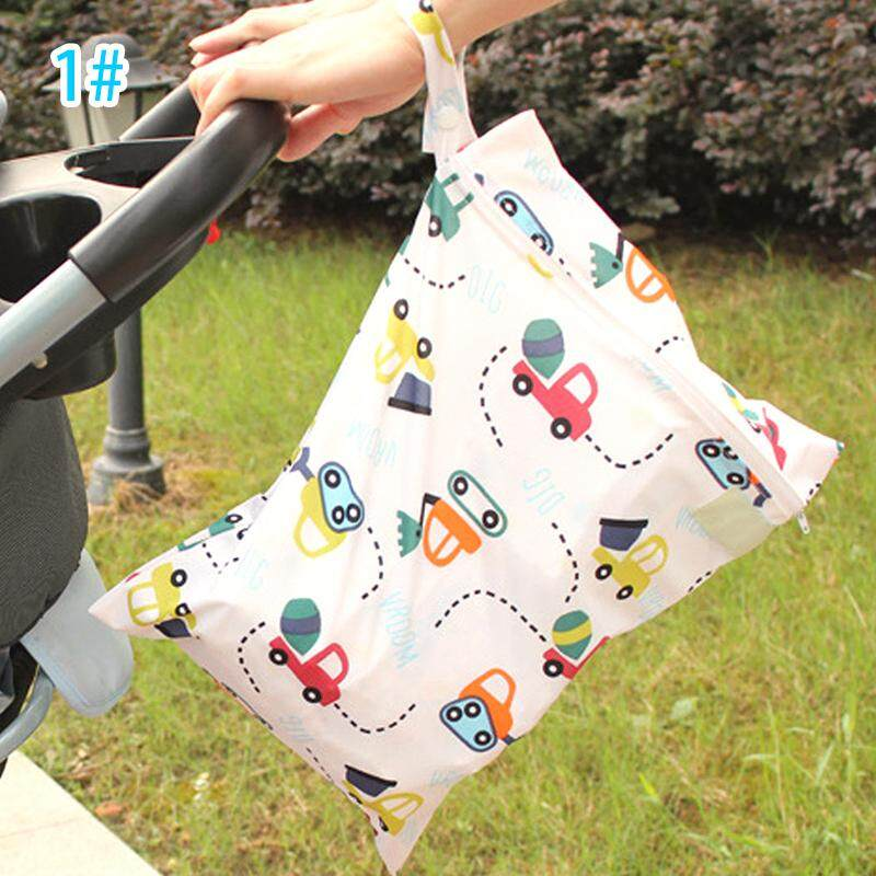 Nappy dry and wet cloth bag for diaper bag for baby waterproof pocket
