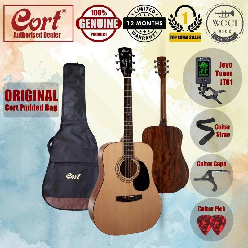Cort AD810 Acoustic Guitar 41 (Dreadnought) FREE Cort Bag, Joyo Tuner, Capo, Strap & Pick Malaysia