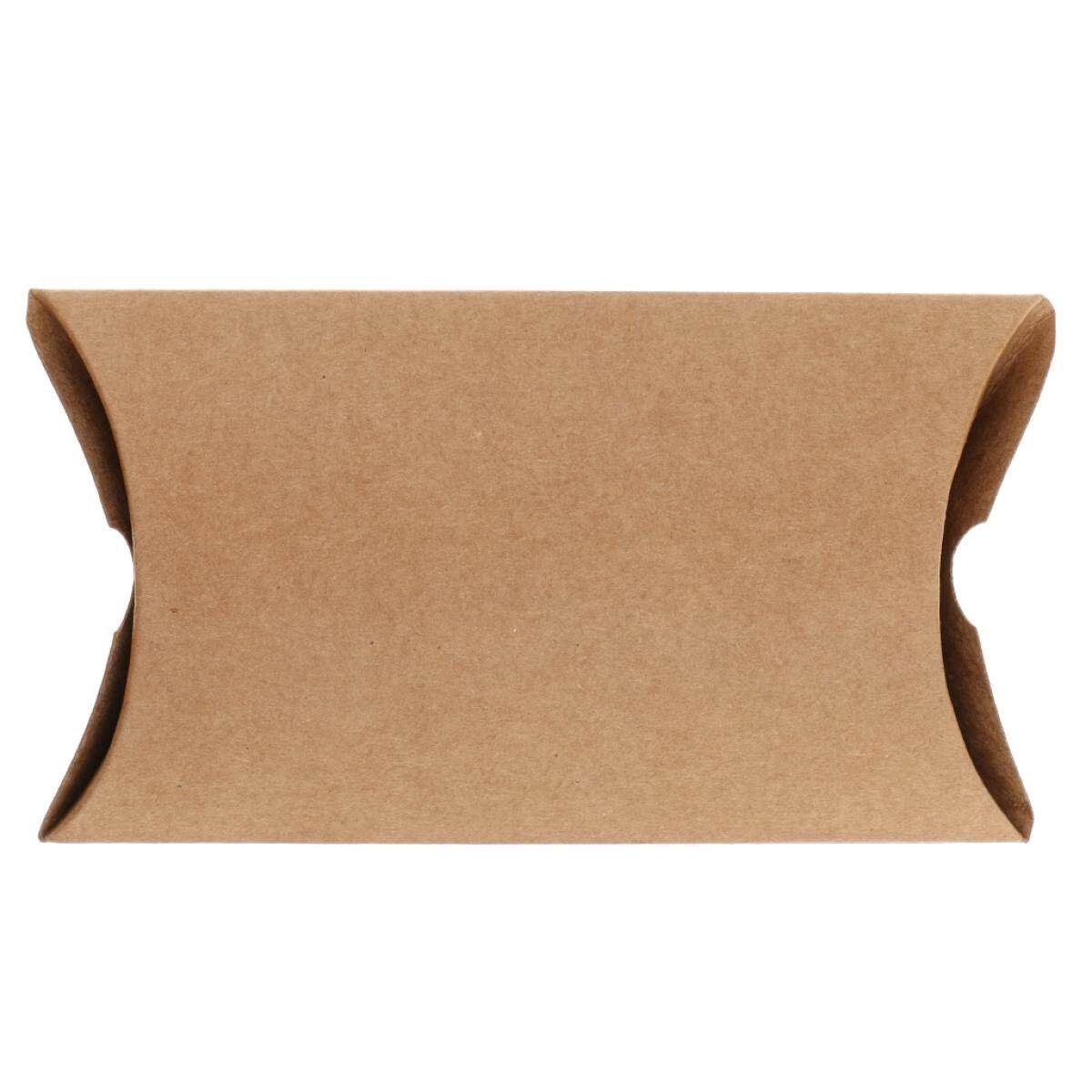 50pcs Kraft Paper Sweets Candy Pillow Boxes Gift Boxes Wedding Party Favor