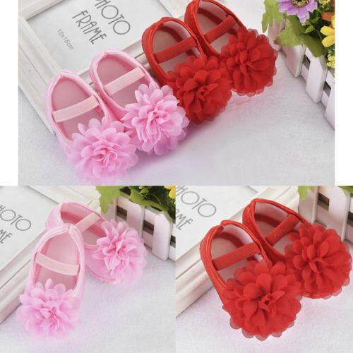 Newest Baby Girls Princess Crib Shoes Soft Sole Anti-Slip Prewalkers 0-18m By Mm88 Store.