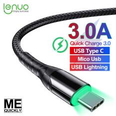 Cáp Sạc Nhanh Lenuo Original 1M USB, Cáp Micro Usb / Type C / Lightning Dành Cho Samsung Huawei Oppo Xiaomi Apple iPhone Cáp Sạc Nhanh USB Type C USB-C Sạc Nhanh