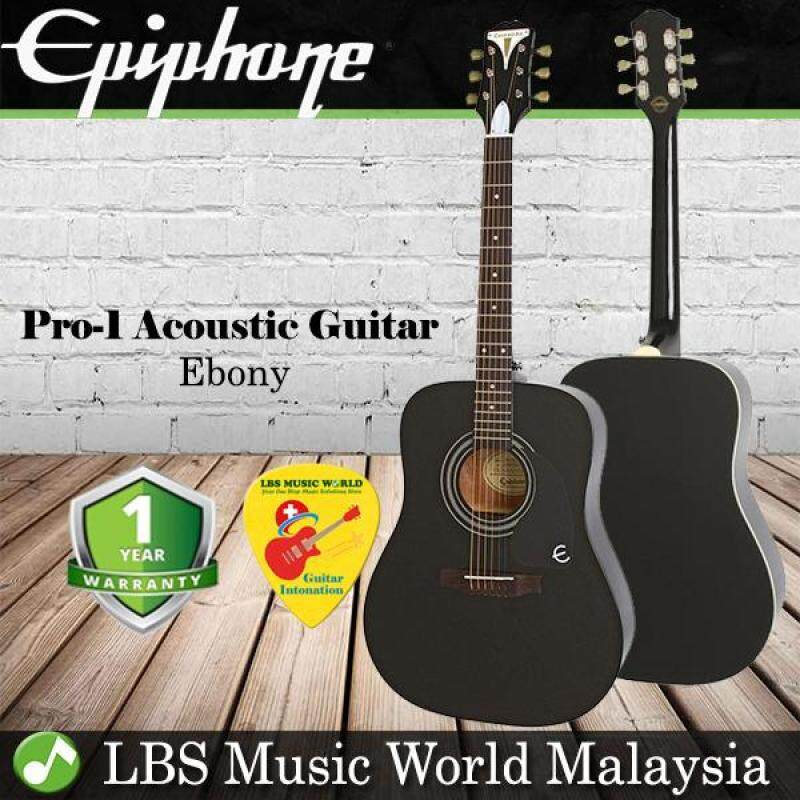 Epiphone Pro-1 41 Inch Acoustic Guitar Dreadnought Ebony Black (PRO 1) Malaysia