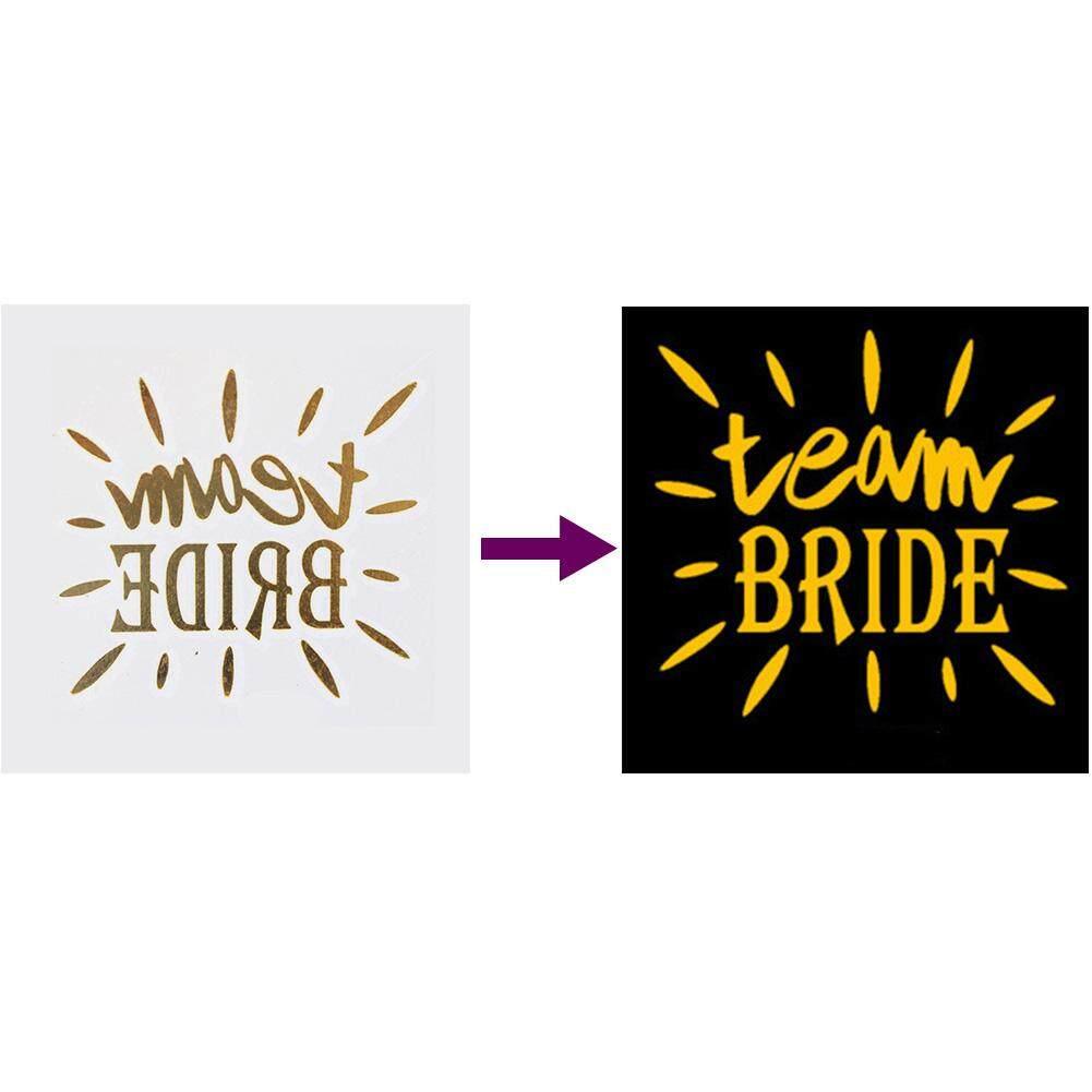 Bly In Bahasa Inggris Series Golden Stiker Tato Pengantin Suku Stiker untuk Pernikahan Pesta Bujangan