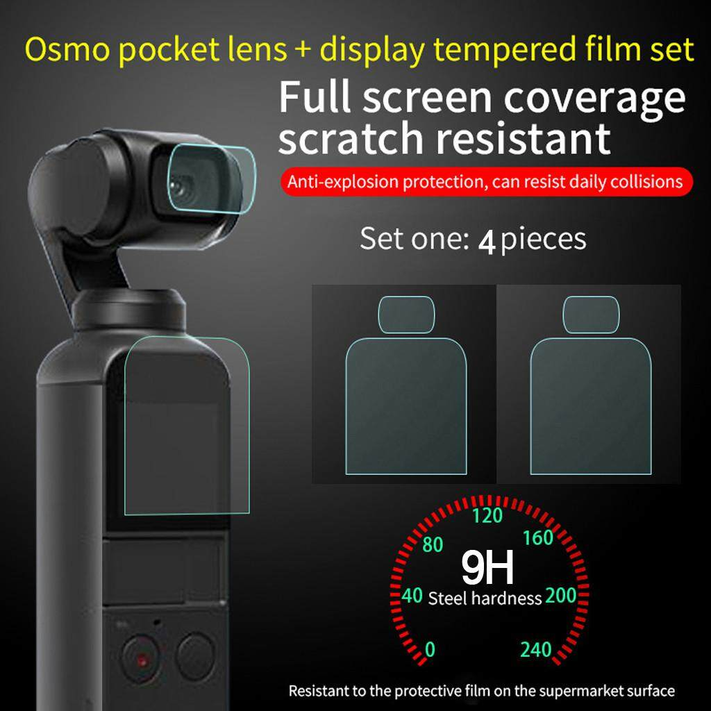 Docesty 4pcs 9h Tempered Glass Screen Protector Film Full Coverage For Dji Osmo Pocket By Docesty.
