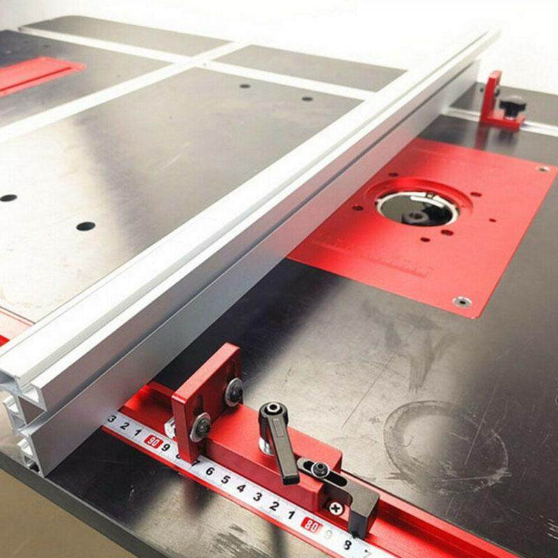 45 Type 600MM Woodworking Miter Track Stop Chute T-slot Track Aluminium Alloy