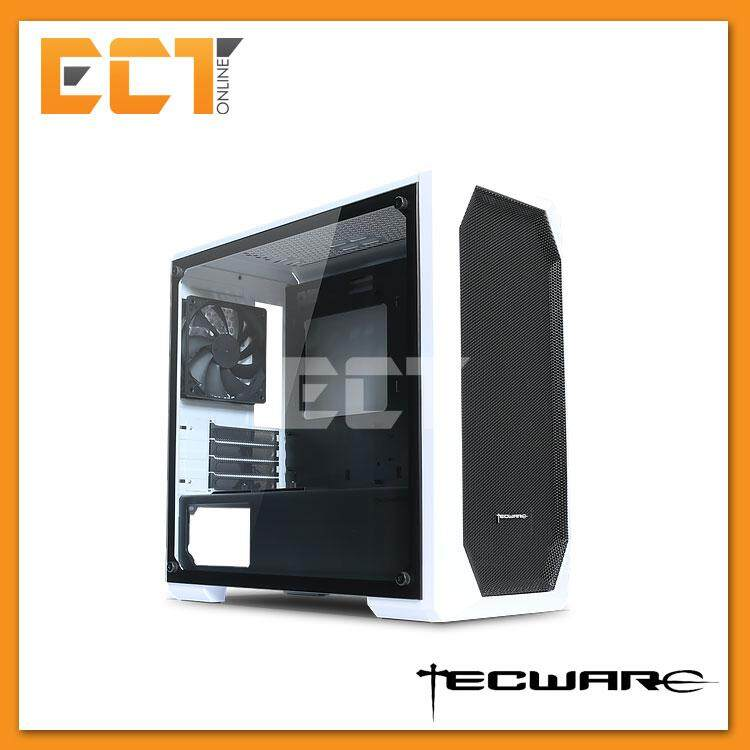 Tecware M1 Micro Mid Tower mATX Gaming Desktop Case - White Malaysia
