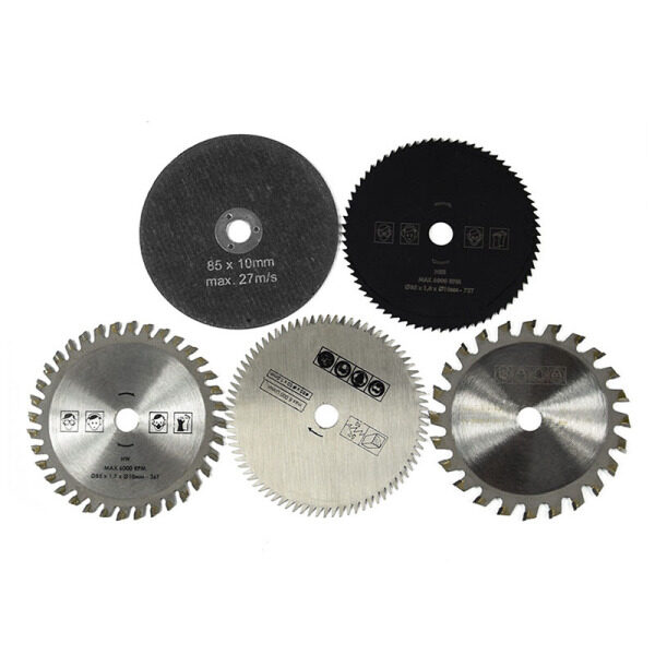 5Pcs 85mm Mini Round Circular Saw Cutters Grinder Cutting Tools for Wood Plastic Metal Tiles Stone Grinding