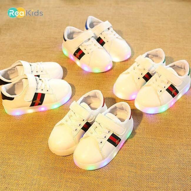Giày Thể Thao ReaKids Phát Sáng Cho Bé Trai, Giày Đế Bằng Có Đèn LED Thoáng Khí 0-3 Tuổi giá rẻ