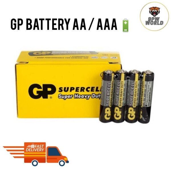 GP Battery AA / AAA Supercell Super Heavy Duty Long Lasting 1pc / 4pc