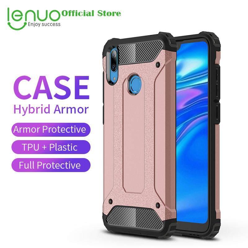 Lenuo Casing untuk Huawei Y7 2019 Casing Hibrid Armor Case S TPU Kasar + Keras Sarung Plastik Casing untuk Huawei Y7 2019