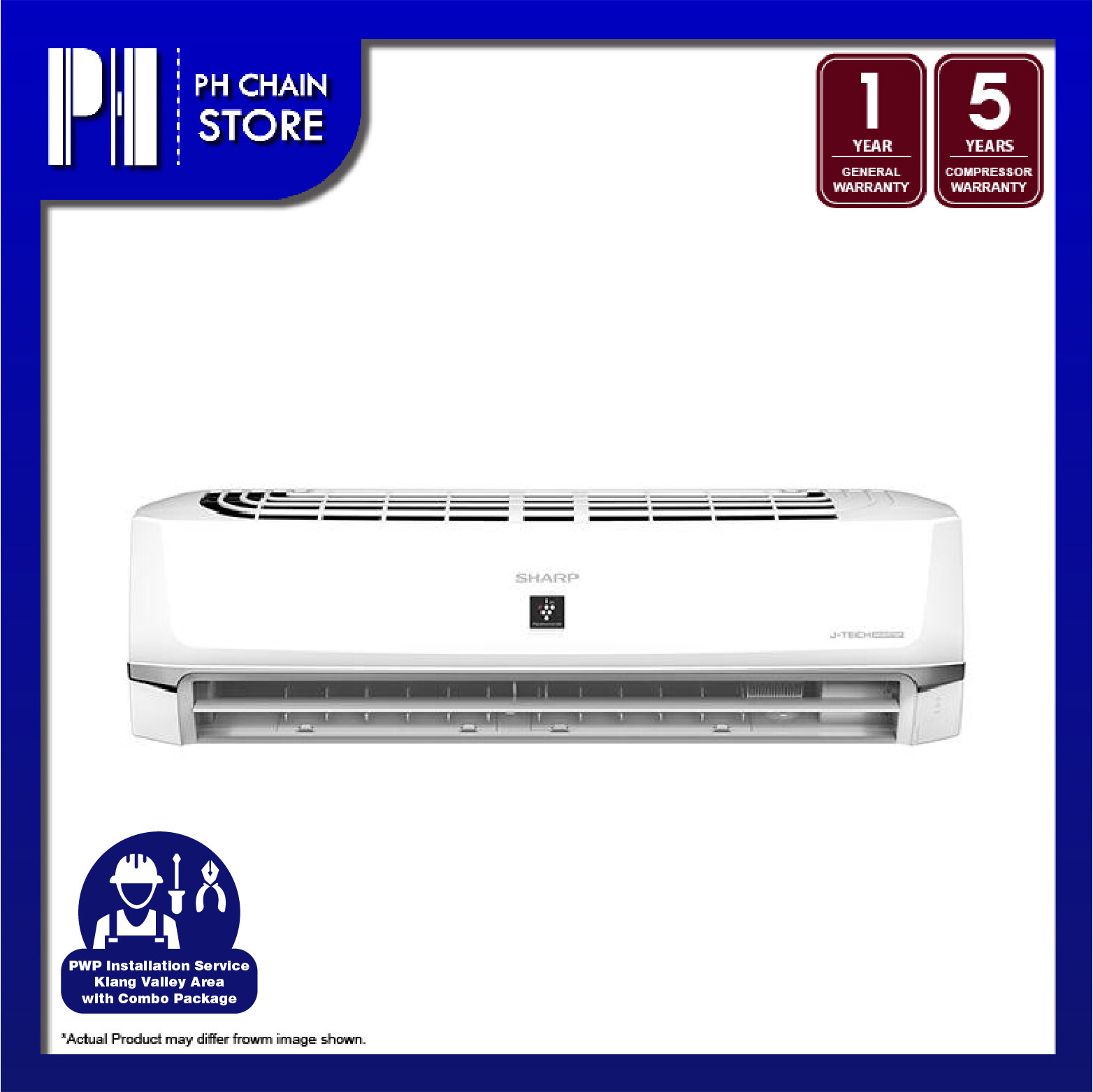 SHARP AHXP24WHD/AUX24WHD 2.5HP J-TECH INVERTER AIR CONDITIONER