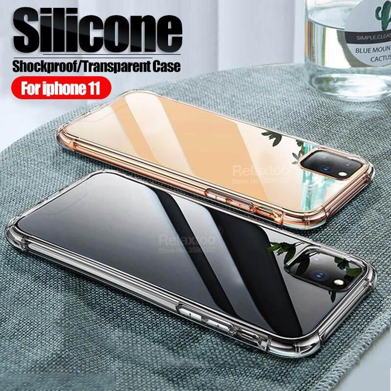 Pelindung Silikon Transparan untuk iPhone 11 Pro Max TPU Lunak Anti Guncangan Cover UNTUK iPhone 11 Pro XR X XS Max 6 6 S 7 7 Plus case Di Iphone11 Case S Coque Fundas