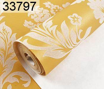 Luxury Modern Metallic 3D Damask Vinyl Wallpaper Wall Paper Bedroom Living Room Wallpapers Roll Beige,CreamRed,Brown