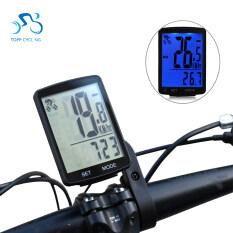 Đồng hồ đa chức năng có màn hình LCD cho xe đạp chống thấm nước đo bước đi – INTL