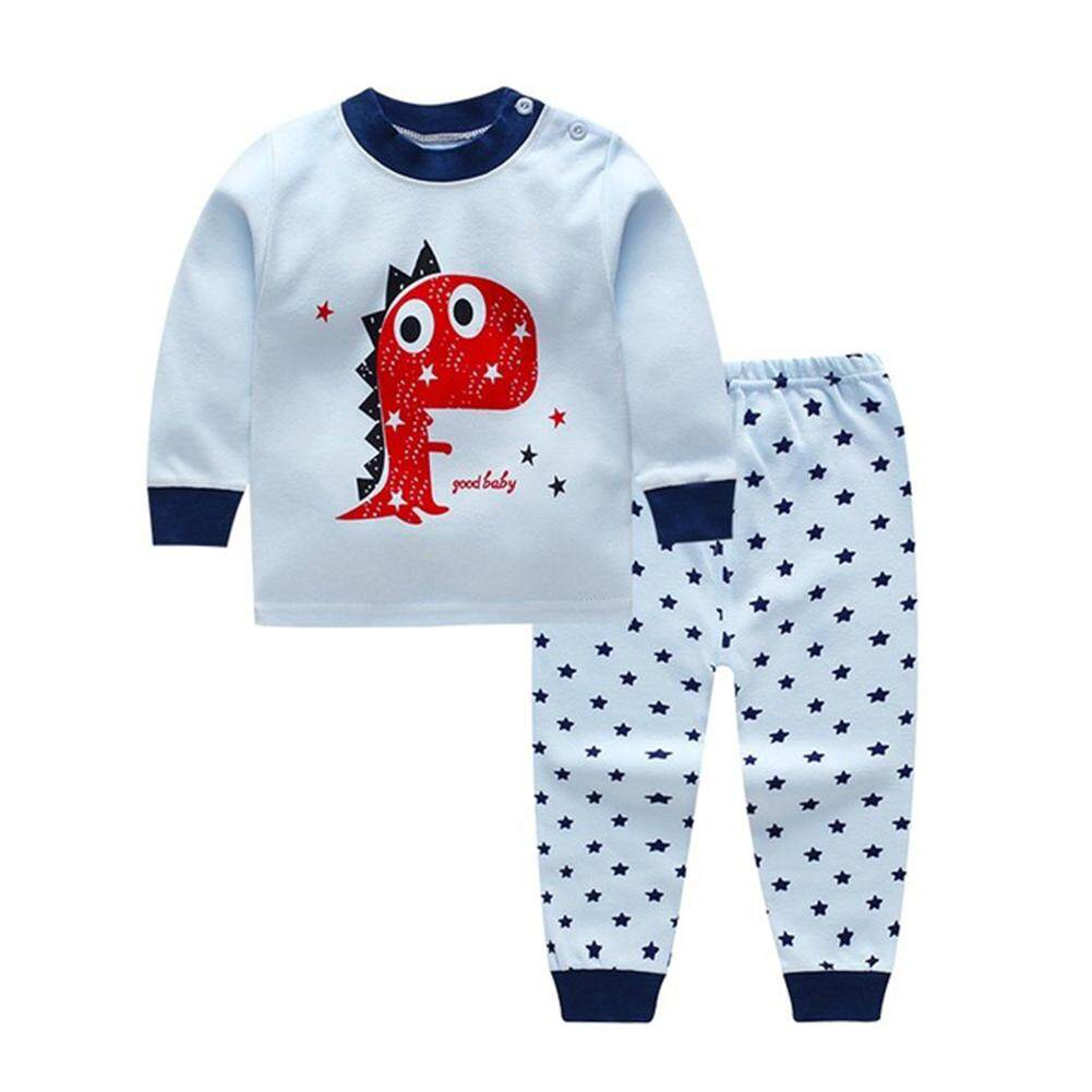 Mg [free Shipping] Kids Home Cartoon Long Sleeve Blouse Pants Set By Magic Cube Express.