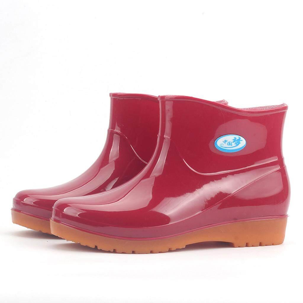 Foctroes สตรีรองเท้าส้นสูงรอบ Toe รองเท้ากันน้ำกลางหลอดรองเท้า loafers รองเท้าผู้หญิงเรือรองเท้าและรองเท้าสำหรับสุภาพสตรีเกาหลี loafers