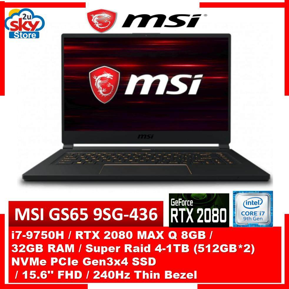 MSI Stealth GS65 9SG-436 15.6 FHD 240Hz Thin Bezel Gaming Laptop Malaysia