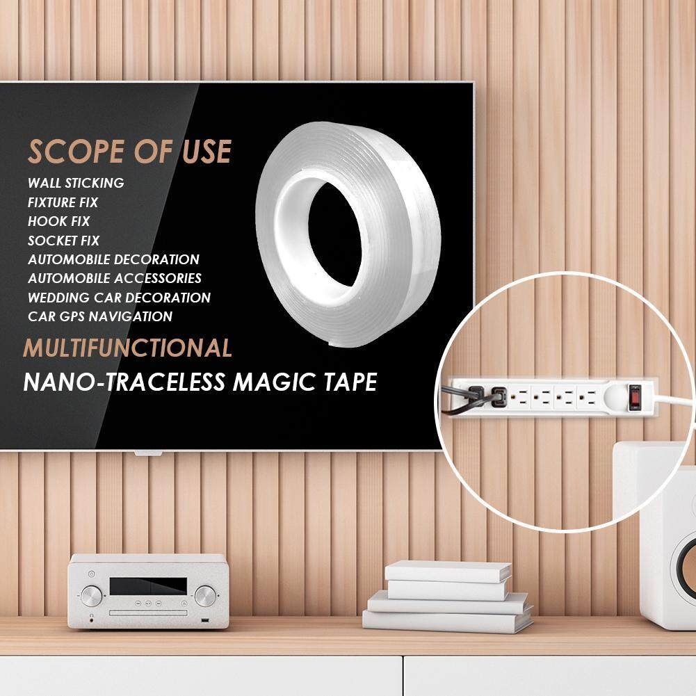 [HOSPORT] Multi-function Double-sided Adhesive Nano Tape Washable Removable Tapes Kitchen Bathroom Living Room Portable Gel Grip Sticker