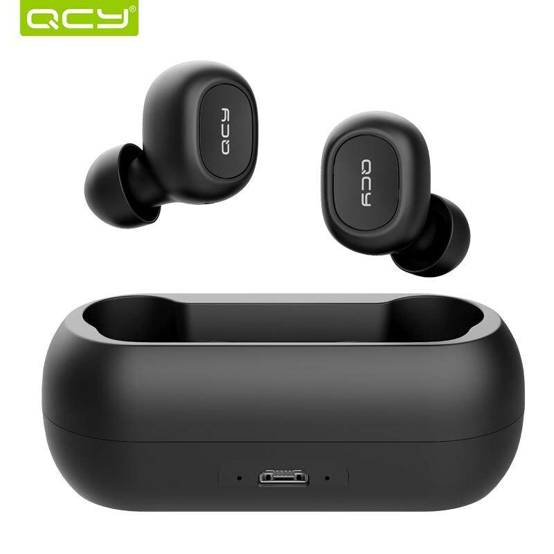 QCY T1 Tws 5.0 Headphone Bluetooth 3D Earphone Stereo Nirkabel dengan Mikrofon Ganda