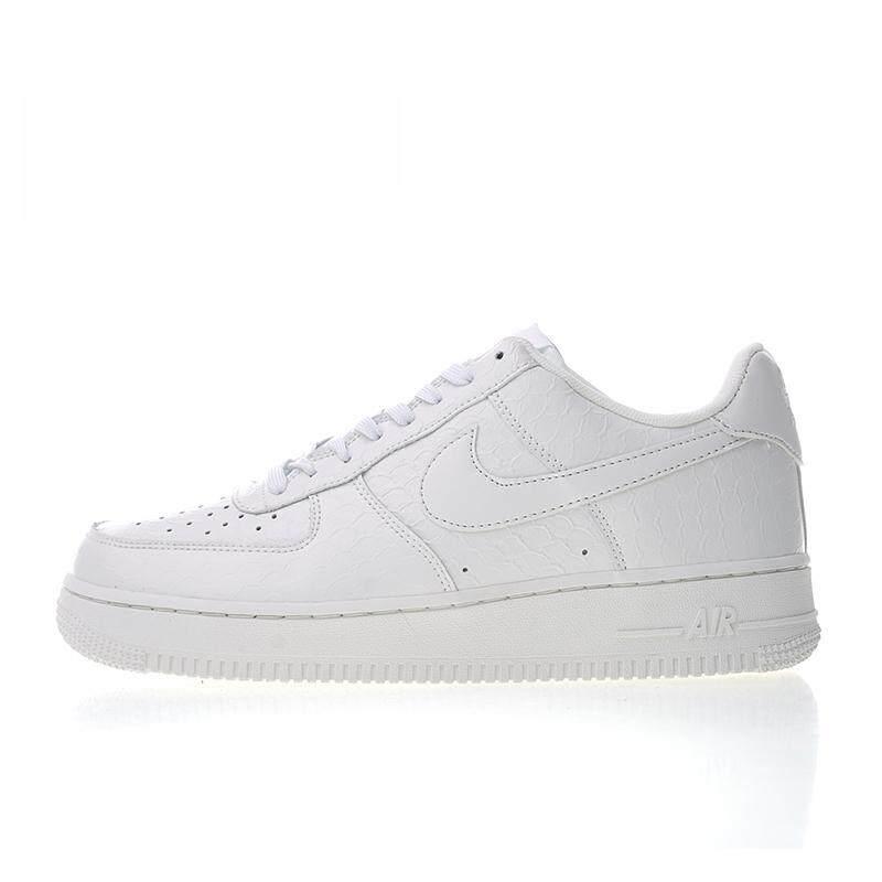 reputable site b2bc1 6243d Original Authentic Brand Nik Air Fashion Force 1 07 LV8 White Croc Men s  Skateboarding Shoes Sneakers