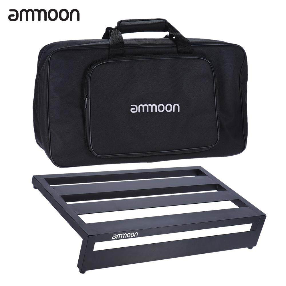 ammoon DB-3 Portable Guitar Effect Pedal Board Pedalboard Aluminum Alloy with Carrying Bag Pedals Mounting Tapes