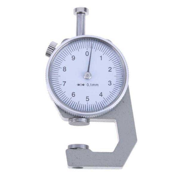 0 to 10mm Range Measuring Tool 0.1mm Resolution Round Dial Thickness Gauge