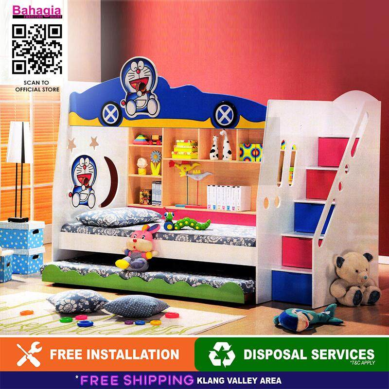 Bahagia Doraemon Children Bunk Bed With Ladder By Bahagia Furniture Gallery.