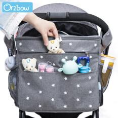 Túi treo xe đẩy em bé Orzbow dùng đựng tã bình sữa đồ dùng cho mẹ bỉm sữa với sức chứa lớn tiện lợi mang theo du lịch – INTL
