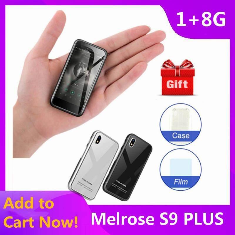 Melrose S9 Plus Asli, Ponsel 4G Mini 2,45 Inci Android 7.0 MTK6737 Quad Core 1.5 GHz 1GB RAM 8GB ROM 5.0 MP + Kamera 0.3 MP 1580mAh Terintegrasi
