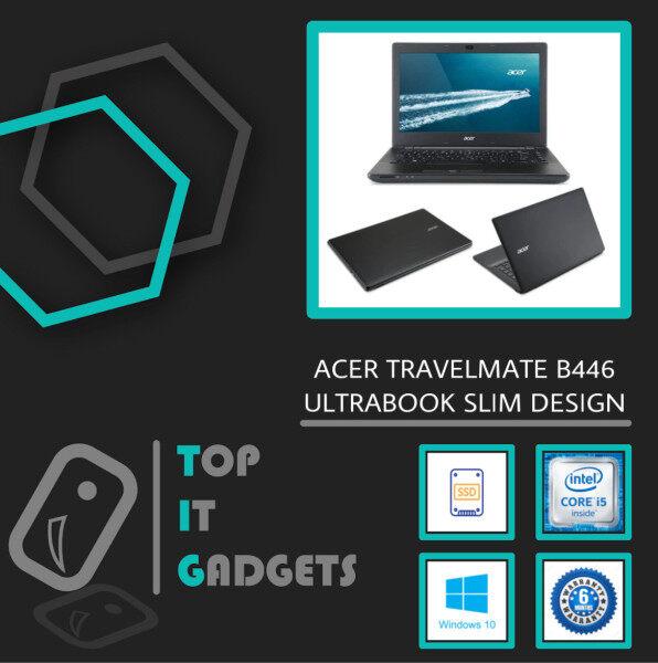 ACER TRAVELMATE P446 ULTRABOOK SLIM DESIGN [ INTEL CORE I5 5TH GENERATION / 8GB DDR3L RAM / 128GB SSD STORAGE / 14 INCH / WINDOW 10 PRO ] 6 MONTHS WARRANTY [ LAPTOP ] Malaysia