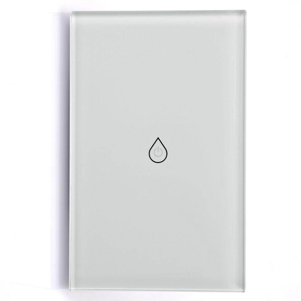 SS Smart Wifi Water Heater Touch Panel Wall Switch Voice Timer with Phone App Control US Regulation