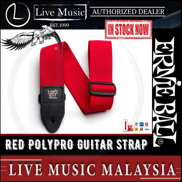 Ernie Ball 2 Polypro Guitar Strap - Red Malaysia